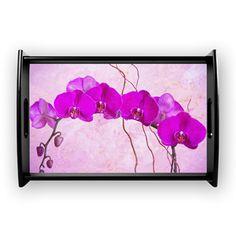 Purple Phalaenopsis Orchids Coffee Tray #orchid #giftidea #purpleflowers #exoticflowers