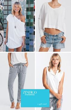 Casual wear so you can still look chic lounging around. Use code CASUAL for 25% off. Valid through 5/5/15-5/15/15.