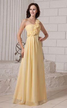 One Schulter Brautjungfernkleid/ Abschlusskleid mit Tüll aus Chiffon.Für weitere Informationen, besuchen Sie: http://www.emodeshop.de/brautjungfernkleider-d3