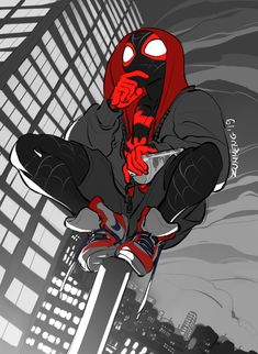 just one guy who grew up reading Miles Morales comics. Black Spiderman, Amazing Spiderman, Spider Art, Spider Verse, Miles Morales Spiderman, Marvel Art, Marvel Comics, Marvel Wallpaper, Marvel Memes