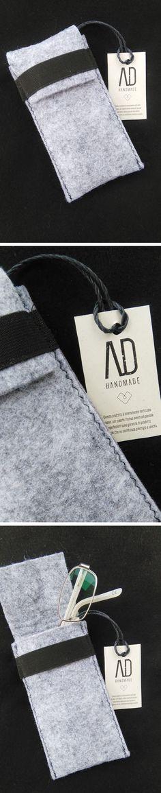Porta occhiali in feltro linea AD Handmade fatto interamente con materiali made in Italy. #adhandmade #madeinitaly #portaocchiali #occhiali #feltro #grigio