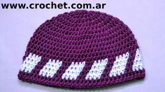 Gorro para niño 6/7 años en tejido crochet paso a paso.