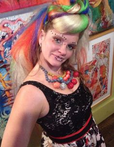 Colette Aimee, painter and body artist of Providence, RI.  She is also the art director for the Visual Arts Village of Spectral Spirit Fest, July 17-19th at Page Farm in Croydon, NH.  www.SpectralFest.com