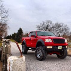 Red Ford F-150 Truck (Prefer black but love those tires!)