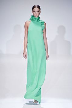 Cool Tones - Could picture this Gucci Spring 2013 dress on Emma Stone... what about you?