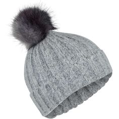 2d57422edfb404 Miss Selfridge Grey Ombre Beanie ($22) ❤ liked on Polyvore featuring  accessories, hats, grey, grey beanie, beanie cap hat, beanie cap, grey beanie  hat and ...