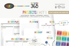 Printable Planner Projects { kit } - Templates