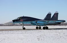 "A Russian Air Force Sukhoi Su-34 ""Fullback"" fighter-bomber from Lipetsk airbase. Photo Vitaly V. Kuzmin. Russian Air Force (RuAF) will take delivery of 30 new Su-34s by end of 2014,country's Ministry of Defence (MoD) revealed.Russian military to date taken delivery of 29 Su-34 according to official data. ""Ministry also noted that a total of 124 Su-34 fighters are scheduled to be handed over by Sukhoi to the air force under two contracts by 2020."""