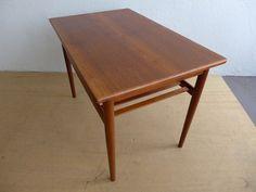 #Eames #Era #Teak #Slated #Shelf #Side #Table #Midcentury #Modern #Vintage #Design #Furniture #DenMøbler