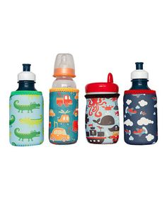 Another great find on #zulily! Land & Sea Bottle & Sippy Cup Insulator - Set of Four #zulilyfinds