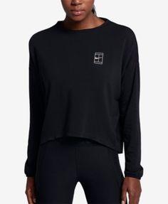 NikeCourt Dry French Terry Tennis Top - Black XS