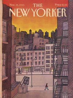Vintage Illustrations The New Yorker Cover - November 1985 Regular Giclee Print - The New Yorker, New Yorker Covers, Old Magazines, Vintage Magazines, Top 80, Magazine Art, Magazine Covers, Print Magazine, Magazine Design