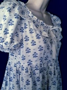 Vintage Laura Ashley Welsh Flowers Empire Austen Ruffled Maxi Dress 8 LABEL10 | eBay