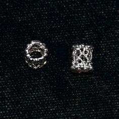 Sterling Silver 925 Filigree Openwork Tube Beads by SilverRosesJewelry on Etsy