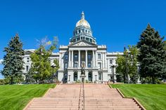 Colorado state capitol building in Denver.