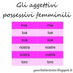 GLI AGGETTIVI POSSESSIVI (Italian definite articles) #learnitalian #italianlanguage #italianlessons #italiangrammar