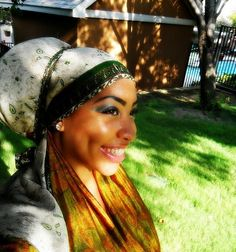 Headwrapping makes her smile