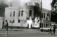 Race riot, Augusta, Georgia May 12, 1970 | building was set ablaze during Augusta's riot fourth years ago. Six ...