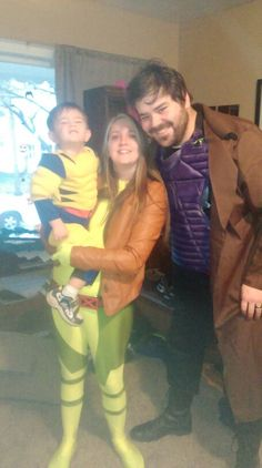 Wolverine rogue and gambit- family cosplay!