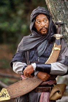 Morgan Freeman as Azeem in Robin Hood - Prince of Thieves (1991) - This was one of the first filsm I saw int he cinema. I sat backwards in my chair for most of it after the hand chopping-off scene at the start. Lol