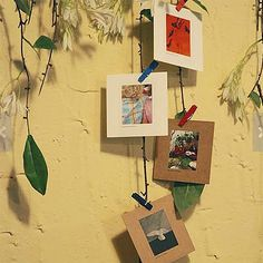 Mini Polaroid Photo Frames & Wooden Pegs  7 por WonderlandRoom