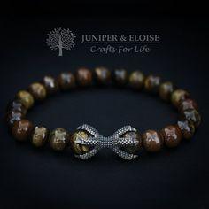 Dragon Claw Bracelet, Tiger Eye Bracelet, Men& and Women& Jewelry, Bronze Claw Bracelet, Stretch Gold Jewelry, Beaded Jewelry, Jewelry Accessories, Women Jewelry, Beaded Bracelets, Fine Jewelry, Diy Jewellery, Jewelry Shop, Tiger Eye Bracelet