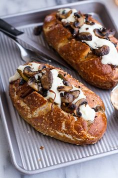 Cleveland Cheesesteaks on Pretzel Hoagie Rolls