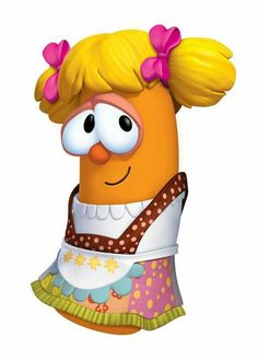 """Princess Poppyseed is a carrot wears a yellow hair with a pink bowtie wears a white and pattern dress Acting Herself in """"Princess and the Pop Star: A Story of Trading Places"""", Herself in """"Lenny and the Lost Birthday on Robin Good and His Not So Merry Men"""" Trading Places, Pink Bow Tie, Veggietales, Cartoon Tv Shows, Yellow Hair, South Park, Cute Cartoon, Dress Patterns, Princess Peach"""