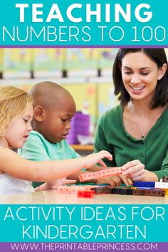 Help your kindergarteners build their number sense and learn numbers to 100 while staying engaged and having fun with these hands-on numbers to 100 activities and math games during whole group and small group instruction as well as math centers. Number Riddles, 100s Day, Warm Up Games, Teen Numbers, Teaching Numbers, Work On Writing, Cooperative Learning, Time Activities, Number Sense