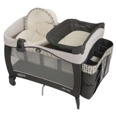 Harper slept in this pack n play bassinet for the first few months of her life! :) Graco Newborn Napper Elite Pack 'n Play Playard - Vance