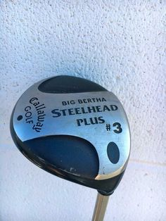 CALLAWAY GOLF BIG BERTHA STEELHEAD PLUS #3 METAL WOOD~Graphite Gems Shaft~GOOD C #Callaway Big Bertha, Callaway Golf, Graphite, Golf Clubs, Gems, Metal, Wood, Graffiti, Woodwind Instrument