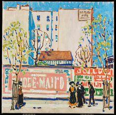 David Milne born near Burgoyne, Ontario, died Bancroft, Ontario, 1953 Pink Billboard around 1912 Canadian Painters, Canadian Artists, Art And Illustration, David Milne, Art Gallery Of Ontario, Pavement Art, American Art, Art Museum, Painting & Drawing