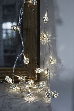 Lovely Moroccan style Christmas lights.