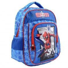Ghiozdan mediu Spider-Man Spiderman, Lunch Box, Backpacks, Bags, Fashion, Spider Man, Handbags, Moda, Fashion Styles
