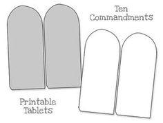 Printable Ten Commandments Tablets - Blank
