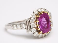 VAN CLEEF & ARPELS RUBY AND DIAMOND RING | From a unique collection of vintage cocktail rings at http://www.1stdibs.com/jewelry/rings/cocktail-rings/