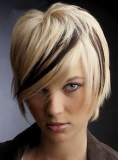 Super Do Multi Colored Highlights Just On The Bangs Are Unique But Short Hairstyles For Black Women Fulllsitofus