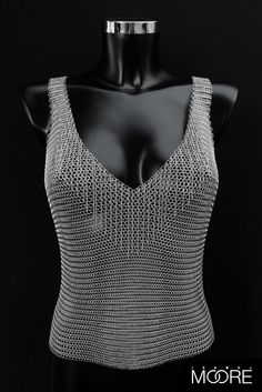 Astral Top handcrafted from Stainless Steel Chainmaille http://isabelmoore.com/products/astral-top