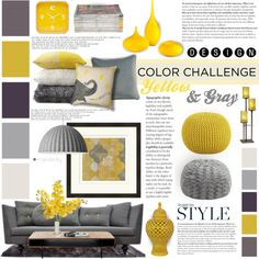 Best Living Room Decor Grey Yellow Interiors Ideas Beste Wohnzimmer Dekor grau gelb Interieur Ideen This image has. Yellow Living Room Accessories, Living Room Decor Orange, Grey And Yellow Living Room, Grey Yellow, Living Room Color Schemes, Living Room Colors, Living Room Grey, Interior Design Living Room, Living Room Designs