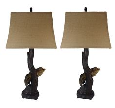 "Bass Fish 30"" H Table Lamp with Empire Shade"