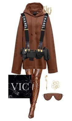 """Rihanna Style"" by victoriaburton1 ❤ liked on Polyvore featuring Puma, Chanel, Gentle Monster, Pamela Love and TILDA BIEHN"