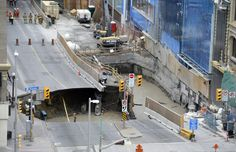 Ottawa sinkhole sink hole Rideau Street 2016. (1199×774)