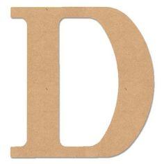 """MPI Wood """"D"""" Classic Font Letter, 5"""" - Walmart.com"""