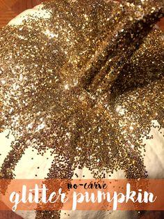 No-Carve Glitter Pumpkin - balancingalex.com