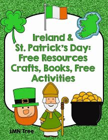 LMN Tree: Ireland and St. Patrick's Day: Free Resources, Crafts, Books, and Free Activities Girl Scout Activities, Social Studies Activities, Holiday Activities, Kindergarten Activities, Preschool Activities, St Patrick Day Activities, St Patrick's Day Crafts, World Thinking Day, New Teachers