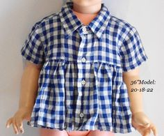 Upcycled Shirt =  Blouse Eco Friendly Kids Baby Clothes