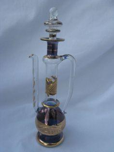 "Tea Pot Hand Blown Egyptian Glass Perfume Bottle 8""# 138T  #Perfumes"