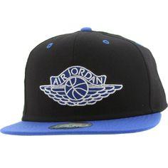 Jordan True AJ1 Snapback Cap (black / royal) 519590-010 - $29.99