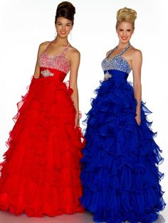 bridesmaid dresses in royal blue red