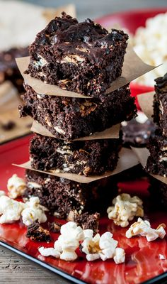 Popcorn Brownies by Shaun Rankin